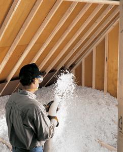 Blown-in Fiberglass insulation