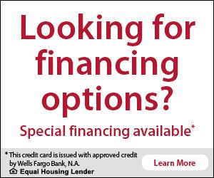 Looking for financing options?  Wells Fargo special financing.